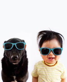 """""""Zoey and Jasper"""", ou quand la photographe américaineGrace Chonréalise d'adorables portraits de Jasper, son petit bébé âgé de 10 mois, et de Zoey, une"""