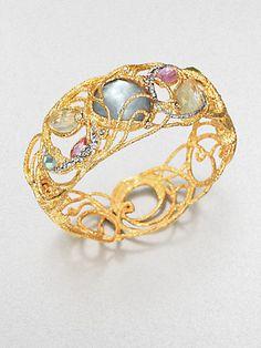 Alexis Bittar - Lacy Two-Tone Jeweled Bracelet - Saks.com