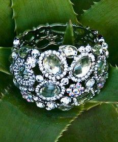 Pompadour- Clear - Crystal Cuff, Morgan Bacall