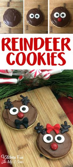 Reindeer Sugar Cookies - a super fun and adorable Christmas cookie to make this year.