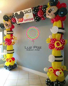 // ramirezpatty69 Kids Birthday Presents, 1st Birthday Parties, Birthday Balloon Decorations, Birthday Balloons, Mickey Mouse Birthday, Mickey Minnie Mouse, Mickey Mouse Balloons, Mickey Party, Mickey And Friends