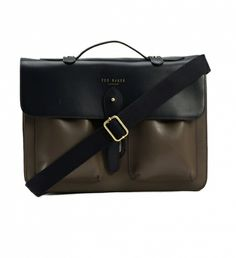 Harlemm Mixed Leather Satchel by Ted Baker $385 | Influenced by Oxford- the height of professorial chic, this Ted Baker leather satchel instils a distinct aura of academia. The top handle and removable shoulder strap were made for running across campus or from meeting to meeting, looking ultra impressive all the while. | GOTSTYLE.ca