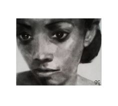 ''Candice 2'' charcoal dust and graphite