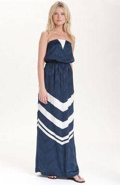 Addison Story Strapless Silk Maxi Dress | Nordstrom
