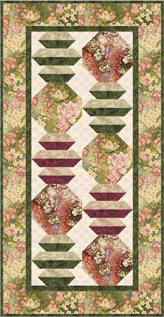 Serene Lanterns Quilt and Table runner PDF – Gateway Quilts & Stuff Japanese Quilt Patterns, Japanese Quilts, Easy Quilt Patterns, Japanese Fabric, Block Patterns, Quilting Ideas, Batik Quilts, Panel Quilts, Table Runner And Placemats