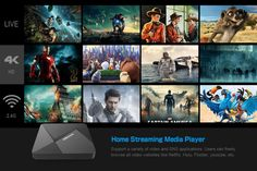 DoLaMee D5 Android 5.1 RK3229 1GB+8GB WiFi 4K x 2K TV Box Player US Plug Black - Tmart Smartwatch, Tv Box Android, Apple Technology, Cool Tech Gadgets, Smart Tv, Quad, Plugs, Wifi, Web Design