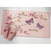 Cherry Blossom & Butterflies Non Slip Bath Rug
