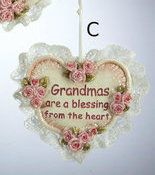Country Marketplace - Grandmother Heart Ornament, $8.99 (http://www.countrymarketplaces.com/grandmother-heart-ornament/)