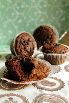 Muffins esponjosos de coco y chocolate - Magdalenas de Chocolate
