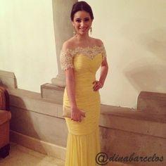 Instalook: Vestido de festa amarelo