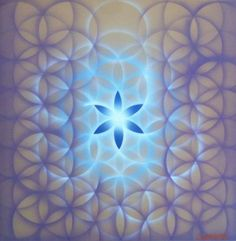 Flower of life, Airbrush on canvas