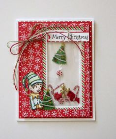 The Rubber Cafe Design Team Blog: Merry Christmas Shaker card by Mary-Ann Maldonado
