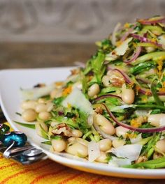 Shaved Asparagus & White Bean Salad Recipe on Yummly
