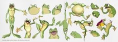 Frog Character design references
