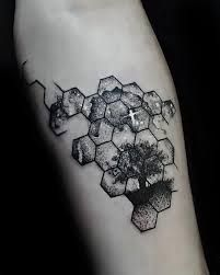 Image result for hexagon tattoo