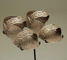 18th to 19th century silver saint's huaraches