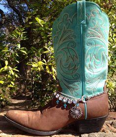 Spring flower Boot Bling large rhinestone by FireSpiritandSoul, $22.00