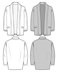 Outer Jacke fashion flat sketch template - Buy this stock vector and explore similar vectors at Adobe Stock Flat Drawings, Flat Sketches, Technical Drawings, Fashion Design Template, Guy Drawing, Fashion Flats, Jacket Style, Fashion Sketches, Girl Outfits