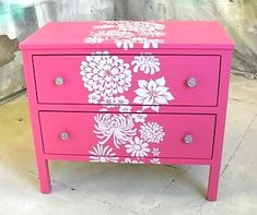 Stenciled Furniture Inspiration   Finicky Girl