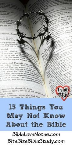 fun facts about Bible Bible - One of a Kind Book