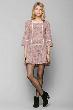 FAMILY AFFAIRS X UO Wonder & Awe Drop-Waist Dress #urbanoutfitters
