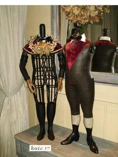 wicker Napoleon mannequin