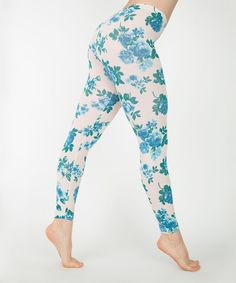 This Blue Tea Rose Leggings - Women by American Apparel is perfect! #zulilyfinds