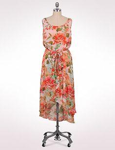 Plus Size Floral High-Low Dress | Dressbarn