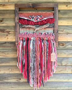 Items similar to Woven wall hanging on Etsy Weaving Loom Diy, Weaving Art, Tapestry Weaving, Hand Weaving, Textiles, Weaving Wall Hanging, Wall Hangings, Hanging Art, Embroidery Floss Crafts