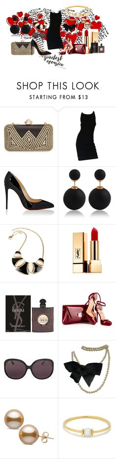 """""""Sweetest Occasion"""" by krissel1 ❤ liked on Polyvore featuring Natasha, Chanel, Christian Louboutin, Yves Saint Laurent, Gucci and Anissa Kermiche"""