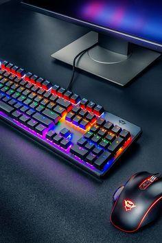 Sala-Deco 3 Color Backlit Adjustable Red Blue Purple Light Keyboard USB Laptop Professional Wired Gaming Keyboard for Pro Gamer