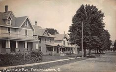 Real Photo Postcard Mansfield Avenue in Fredericktown, Ohio~108548