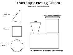 Paper piece train pattern (it's actually for scrapbooking, but it may work for quilting)