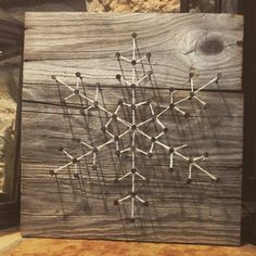 String art. Board made from reclaimed wood😊