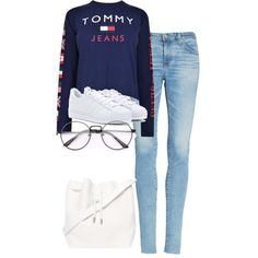 Untitled #647 by strangebirdd on Polyvore featuring polyvore, fashion, style, Tommy Hilfiger, AG Adriano Goldschmied, adidas Originals, Proenza Schouler and clothing