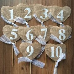 Wedding Table Cards Jute Burlap Reception Table Card with lace Rustic Wedding Table Numbers vintage wedding decoration(China (Mainland)) Diy Wedding Gifts, Cool Wedding Cakes, Card Table Wedding, Wedding Table Numbers, Wedding Reception Lighting, Reception Table, Wedding Day Quotes, Barn Wedding Decorations, Rustic Invitations