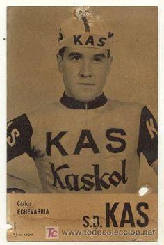 ANTIGUA POSTAL // CARLOS ECHEVARRIA // KAS KASKOL // CICLISMO (Coleccionismo Deportivo - Postales de otros Deportes )