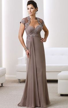 A-line Sweetheart Floor-length Chiffon Empire Evening Dresses gt0866