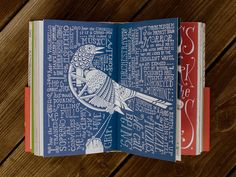 """New Jersey–based artist and illustrator Allen Crawford released Whitman Illuminated: Song of Myself, a hand-drawn and hand-lettered version of Walt Whitman's epic poem, """"Song of Myself,"""" from the 1855 edition of the Leaves of Grass anthology. Crawford's illustrated book is equally as epic as Whitman's writing. The hardcover tome clocks in at 256 pages and took more than 2,500 hours to produce. Each spread contains a different drawing and typographic interpretation of the accompanying verse."""