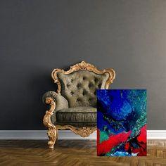 """Ab jetzt sind meine Kunstwerke in der Galerie Bernd F Holasek permanent zu besichtigen.In meinen Augen die schönste Galerie in Graz,Färbergasse 2 <3 -lich Willkommen! """"Magische Energie 2"""" Acryl-Öl auf Leinwand 100 x 80 x 7,5 Jahr 2017 Wohnen mit Kunst <3"""