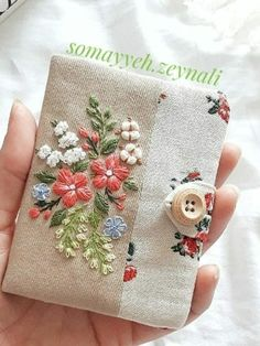 Handmade Clutch, Sewing Projects, Coin Purse, Felt, Embroidery, Stitch, Pattern, Inspiration, Needlepoint
