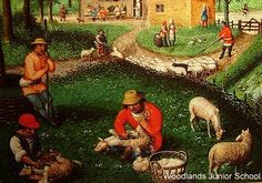 Life in Tudor Britain was harsh - the average life expectancy was just 35 years. This picture depicts the farming society that was Tudor England.