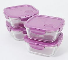 Storing and reheating leftovers is easy with this four-piece container set. Store your favorite foods in the sturdy, square glass containers, then vent the lid to let the steam escape while reheating your meal. From LocknLock. Moving Storage Containers, Moving And Storage, Plastic Containers, Pods Moving, Glass Food Storage, Mobile Storage, Self Storage, Do It Yourself Home, Vintage China