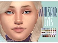 Whisper Eyes by The Sims 4 Whisper Eyes by Sims 4 Whisper Eyes by Lure Eyes & Lashes for Powder Pack - Lelutka (August) Sims 4 Body Mods, Los Sims 4 Mods, Sims 4 Game Mods, Sims 4 Cc Eyes, Sims 4 Mm Cc, Maxis, Sims 4 Tattoos, The Sims 4 Skin, Pelo Sims