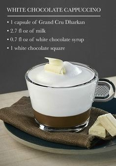 White Chocolate Cappuccino | The simple combination in this espresso drink recipe allows you to truly savor the indulgent ingredients. This coffee creation is wonderful for serving to guests, since you know they'll enjoy the sweet flavors.