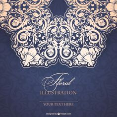 Floral Background Vectors, Photos and PSD files Henna Mandala, Stencil Designs, Floral Invitation, Abstract Styles, Pattern Illustration, Illustrations And Posters, Floral Lace, Design Elements, Paper Art