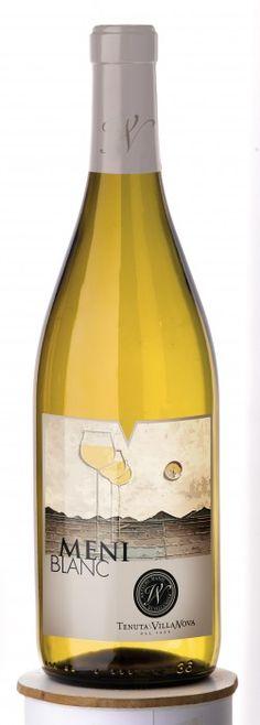 MeniBlanc - 40% Friulano 30% Malvasia 20% Chardonnay  10% Pinot Bianco - Tenuta Villanova #naming #design #vino #wine #packaging #label
