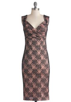Lady Love Song Dress in Floral Lace, #ModCloth Hubby said he'd find places for us to go so I can wear this dress. Purrrrr.....
