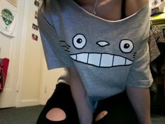 Totoro Shirt -  I would've added the white belly and gray chevrons