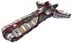 The Pelta-class frigate was a highly modular capital ship used by Galactic Republic personnel as both a medical frigate and cargo frigate during the Clone Wars.